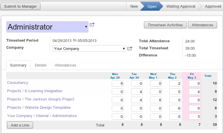 SuperSimpleSoftware-BusinessCenter-Project-Management-Timesheet